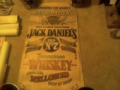 Jack Daniels Old New Stock Full Size Gold Medal Poster From 70's / 80's