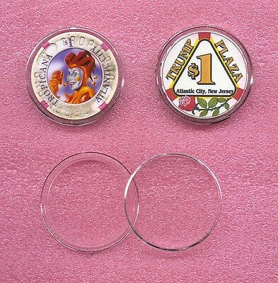 """Genuine """"AIRTITE""""  Clear Protectors for 39mm Casino & Poker Chips  <>  US Made"""