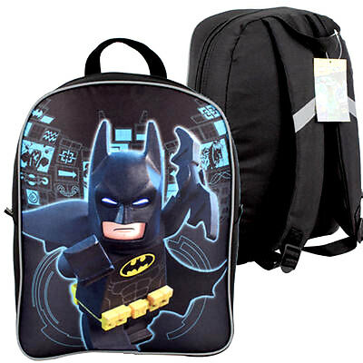 "BATMAN DC LEGO COMICS Kids Boys School 15.5"" Backpack book Bag NEW"