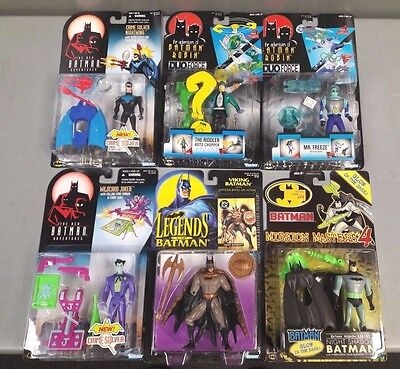 Batman 6 Action Figure Lot Riddler Mr.freeze Joker Dc Comic B-2-1-2