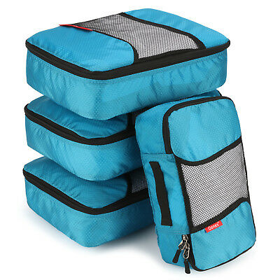 4PCs Travel Storage Bags Set Clothes Packing Cube Bag Luggage Organizer Pouch