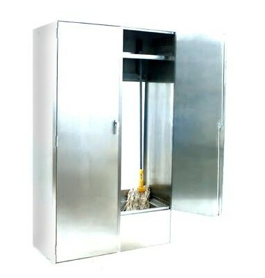 Eagle Group F1916-VSCS-D*-X Double Width Stainless Steel Mop Sink Cabinet