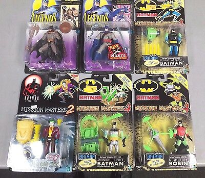 Batman 6 Action Figure Lot Robin Joker Dc Comics Wb B-2-1-2