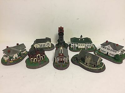 Rockwell's Hometown Collection Handpainted Building Scuptures Lot