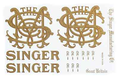 Singer Model 29 Class Sewing Machine Restoration Decals 2 Color 40685
