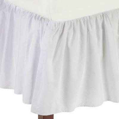 American Baby Company 100% Cotton Percale Ruffled Crib Skirt, White New