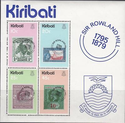 Tr41 - Kiribati Rowland Hill Stamps On Stamps Souvenir Sheet Mnh