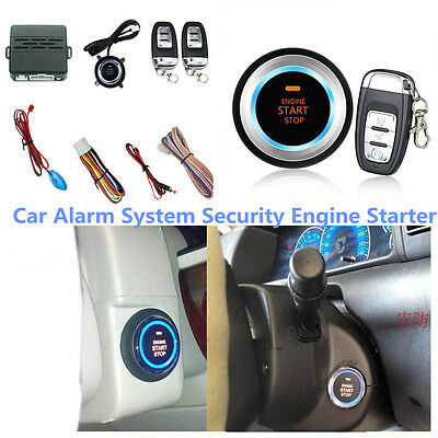 Audible Alarm Car Alarm System Security Ignition Engine Start Push Button Remote