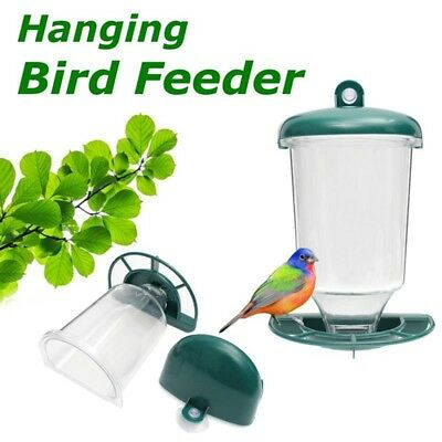 Automatic Wild Window Bird Feeder Seeds Feed Hanging Suction Cup Garden Feeding