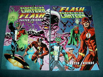 "Green Lantern / Flash : ""faster Friends"", Complete 2 Issue Delux Series. Dc.1997"