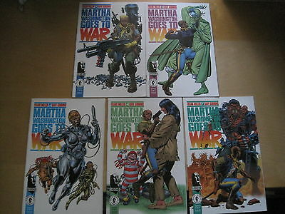 MARTHA WASHINGTON GOES TO WAR : COMPLETE 5 ISSUE SERIES by MILLER & GIBBONS.1994