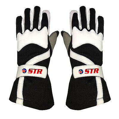 STR Edition 2 Race Gloves - SFI Approved 3.3/5 - Fire Retardant - Adults - CK/WH