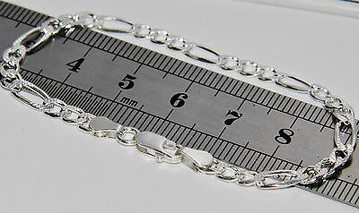 925 Sterling Silver Baby / Children's Solid Figaro Curb Bracelet - 6 inch