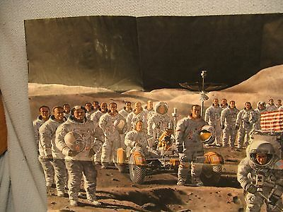 National Geographic MAP Poster NASA Mankind on MOON Apollo September 1973