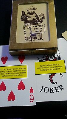 Smokey Bear Playing Cards.. Traditional Deck Of Cards With Smokey Facts .