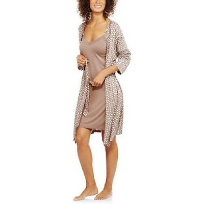 Nurture by Lamaze Maternity Robe & Chemise Set, Fig, Large
