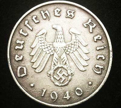 German Rare Antique 10 Pf Coin with Big EAGLE  Authentic WW2 - Artifact