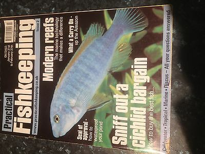 PRACTICAL FISHKEEPING -Modern Reefs,Sniff out a Cichlid ,Bargain-February 2001