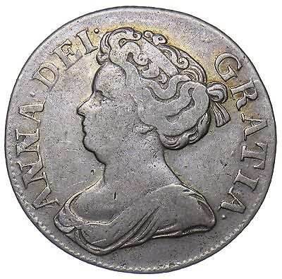 1711 Shilling - Anne British Silver Coin - Nice