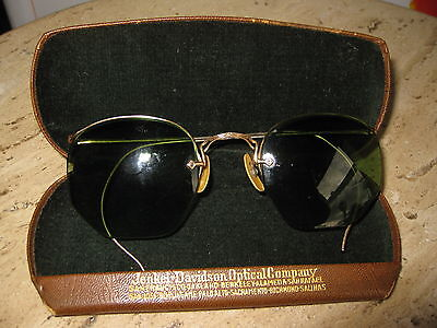 Antique Gold Filled EyeGlass Frames Tinted Lens Steam Punk Style SF Optical Co.