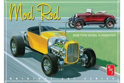 1929 Ford Model A Roadster Mod Rod 1/25 scale AMT plastic model kit#1000
