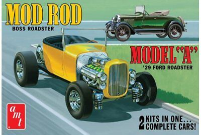 1929 Ford Model A Roadster Mod Rod 2n1 1/25 scale AMT plastic model kit#1002