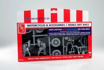 Double Dirt Bike Parts Pack 1/25 scale skill 2 AMT kit#PP014