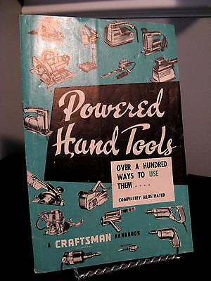 Vintage 1956 Craftsman Powered Hand Tools Booklet - 16 Pages Good