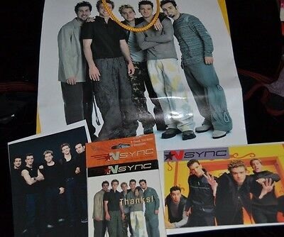 Mixed Lot of NSYNC Memorabilia Thank You Cards Gift Bag Bday Greeting Card