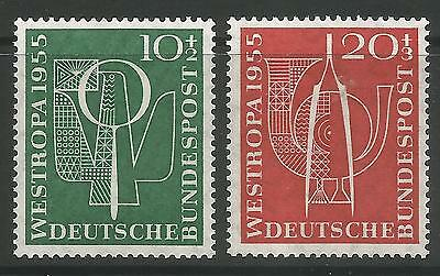 WEST GERMANY. 1955. Stamp Exhibition Set. SG: 1143/44. Mint Never Hinged