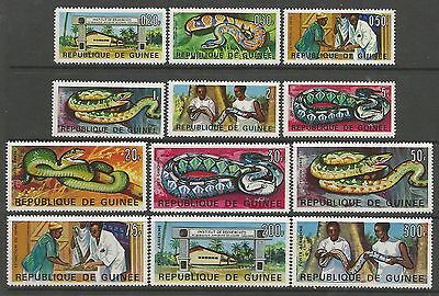 GUINEA 1967. Pastoria Reasearch Institute Set. SG: 590/601. Mint Never Hinged