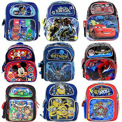 "Disney Kids 12"" Toddler School Backpack BookBag Licensed  For Boys USA Seller"