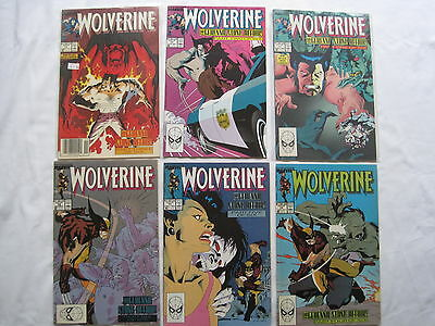 """WOLVERINE 11,12,13,14,15,16, """"The GEHENNA STONE"""" : COMPLETE 6 ISSUE STORY.1989"""