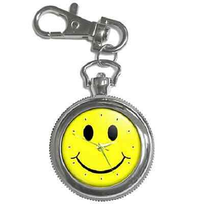 Smiley Face Retro Round Keychain Watch **great Item**