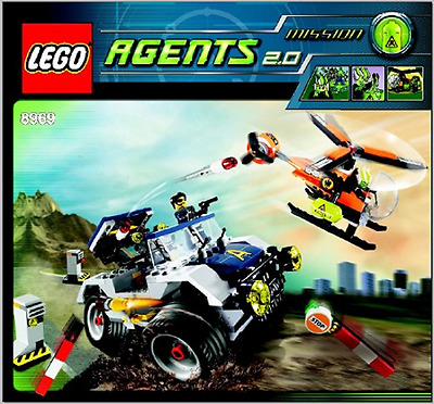 Lego Agents 8630 Instruction Manual Only Gold Hunt 525