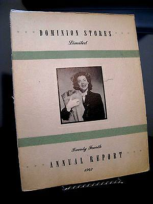 Dominion Stores Limited 1943 Annual Report - Canada 16 Pages - Fair/Good