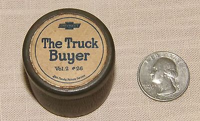 """Vtg Chevrolet """"the Truck Buyer"""" Tin ~ Small Chevy Tin Can"""