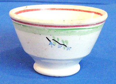 Child's Soft Base Drinking Cup With Blue Flowers - 100+ Years Old