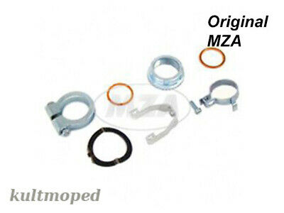 Simson Set Exhaust Manifold Attachment Parts WITH SAFETY CLAMP ENDURO s51e S70E