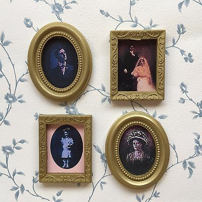 1:12 SCALE 4 Pictures (Photos) In Frames, Dolls House Miniature ...