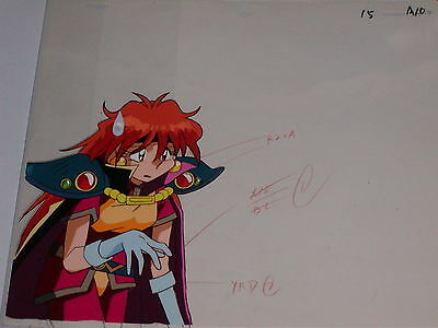 The Slayers hand-painted Production Anime Cel - Lina #2 + Sketch