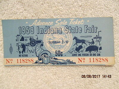 1959 INDIANA STATE Fair Map/Program-Ricky Nelson-Roy Rogers-Dale ...