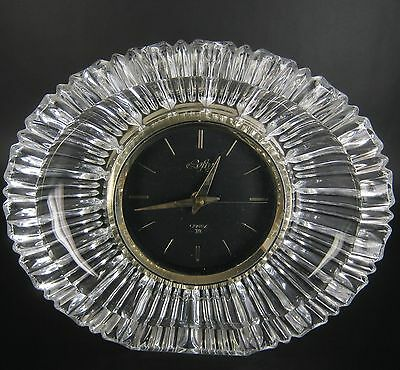 Designer Glas Uhr / Tischuhr Japan Lofty? 60er 70er Jahre Glass Table Clock