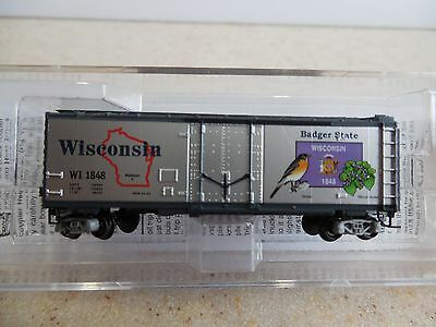 Micro Trains ~ Wisconsin State Car 40' Box Car #1848 ~ Lot A ~ Z Scale