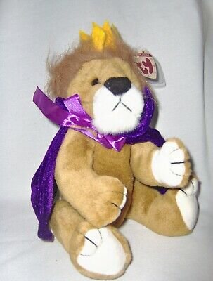Sire, 13 inch Lion with Purple Cape -Attic Treasures by Ty