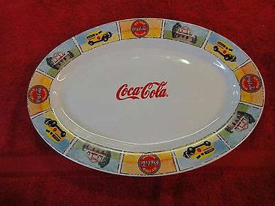 Coca-Cola Gibson Good ole Old Days oval serving tray platter dish plate