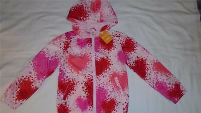 NEW Girls Size M 7-8 Gymboree Jacket Windbreaker With Hearts $39 NWT