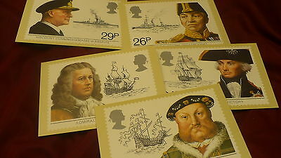 United Kingdom UK postcard maritime heritage  lot of 5 United Kingdom  P309