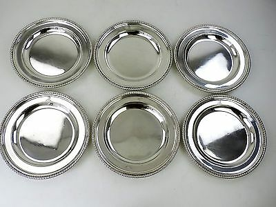MAGNIFICENT SET of 6 GEORGIAN SILVER DINNER PLATES London 1791 3800g 122oz crest