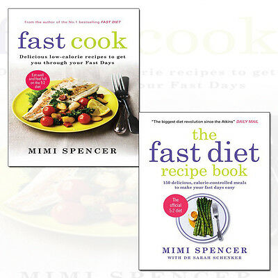 Fast Diet Recipe Cookbook Make Your Fasting Days Easy 2 Books Collection Set NEW
